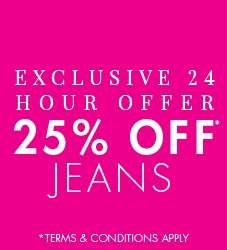 25% OFF JEANS AT M&CO FOR 24 HOURS