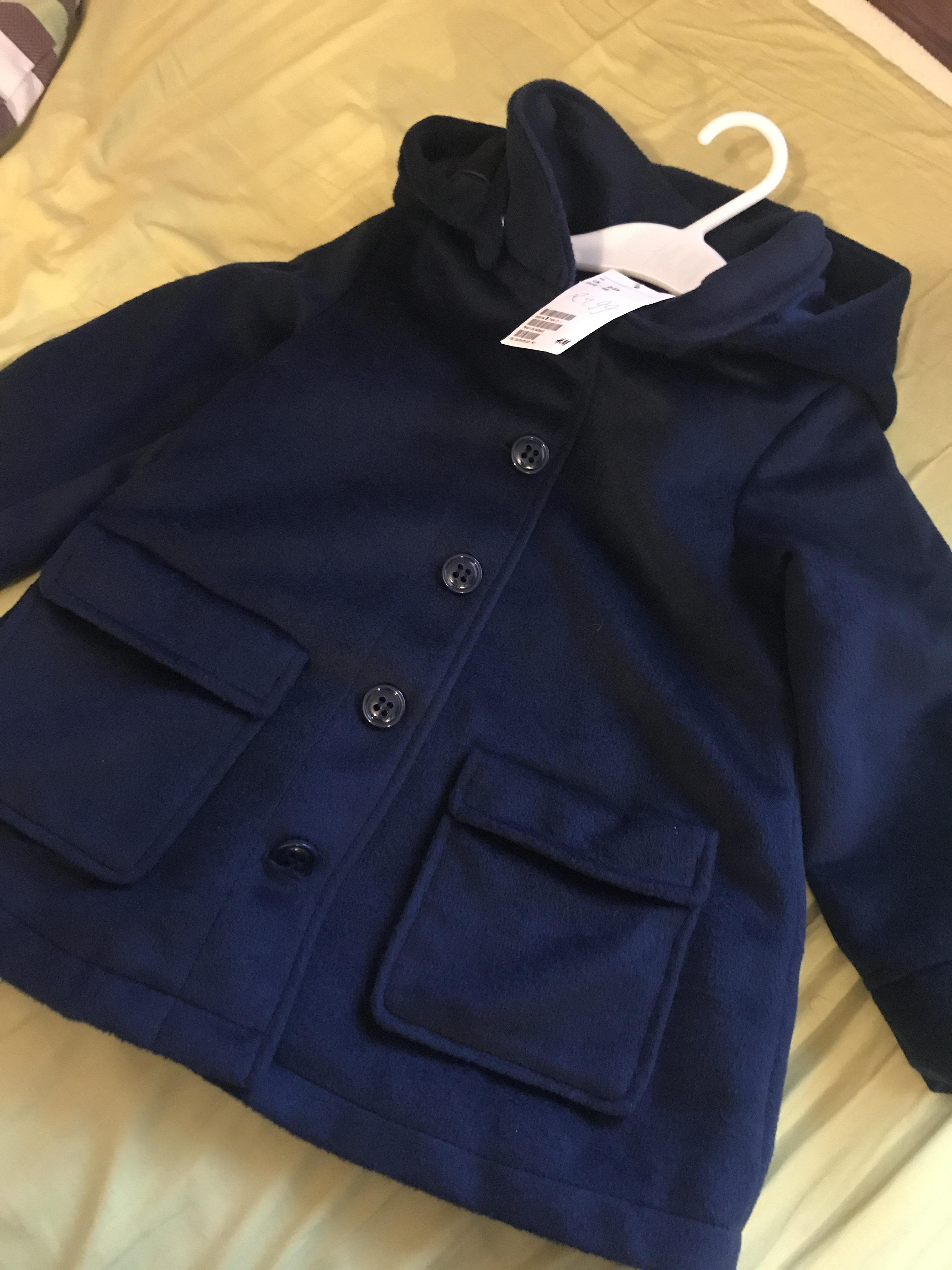 Girls blue coat £8.50  from H&M - Westfield Stratford