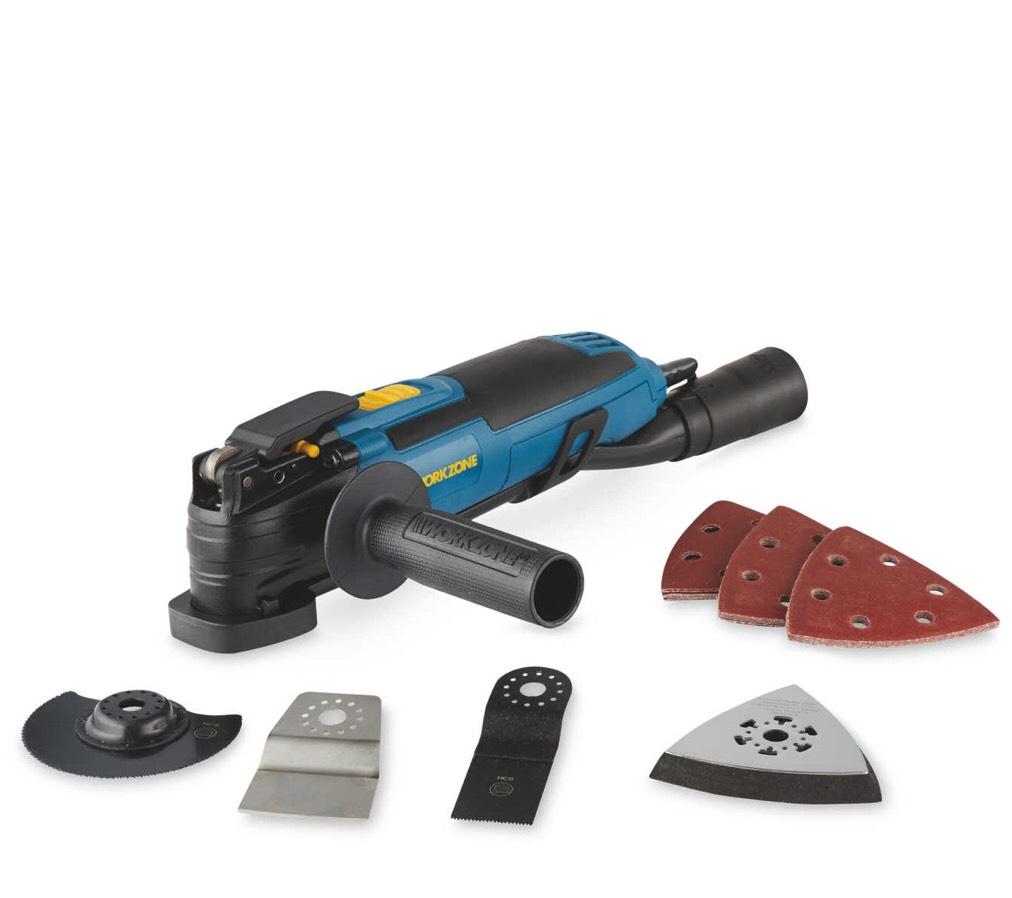 Workzone 300W Multifunction Tool, 24 piece Accessory Kit & Storage Bag £19.99 @ Aldi