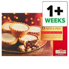 Tesco Mince Pies Any 2 packs for £1.50  Mince Pies, Iced Topped , Plum & Cinnamon & Lattice from 15th Oct @ Tesco