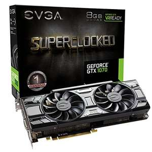 EVGA GeForce GTX 1070 SC GAMING ACX 3.0 8GB DDR5 Black Edition £272.16 Delivered to UK @ Amazon.com