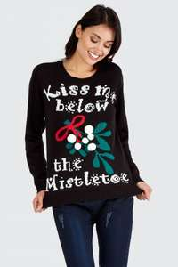 Select Kiss Me Below the Mistletoe Christmas Jumper was £12.99 now £5.99 / £9.98 delivered @ Select fashion