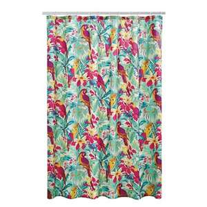 Debenhams MW by Matthew Williamson - Multi-coloured tropical bird print shower curtain - £6 from £20 - Free C+C with code