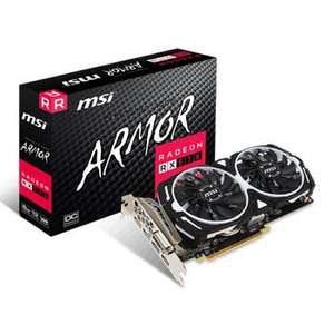 MSI AMD Radeon RX 570 8GB ARMOR OC Graphics Card £159.98 / £164.77 UPS delivery @ Scan