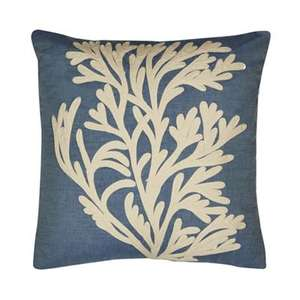 Debenhams Home Collection - Blue coral isle applique cushion - £6.60 from £22 - Free C+C using code