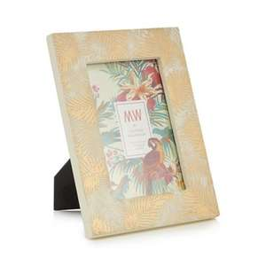 Debenhams MW by Matthew Williamson - Gold palm leaf patterned photo frame - £5.40 from £18 - Free C+C using code