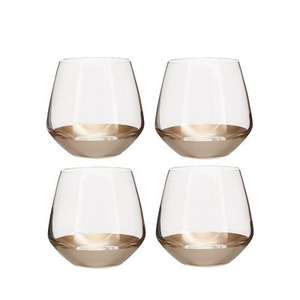 Debenhams Home Collection - Set of four gold based glass tumblers - £8.40 from £28 - Free C+C using code