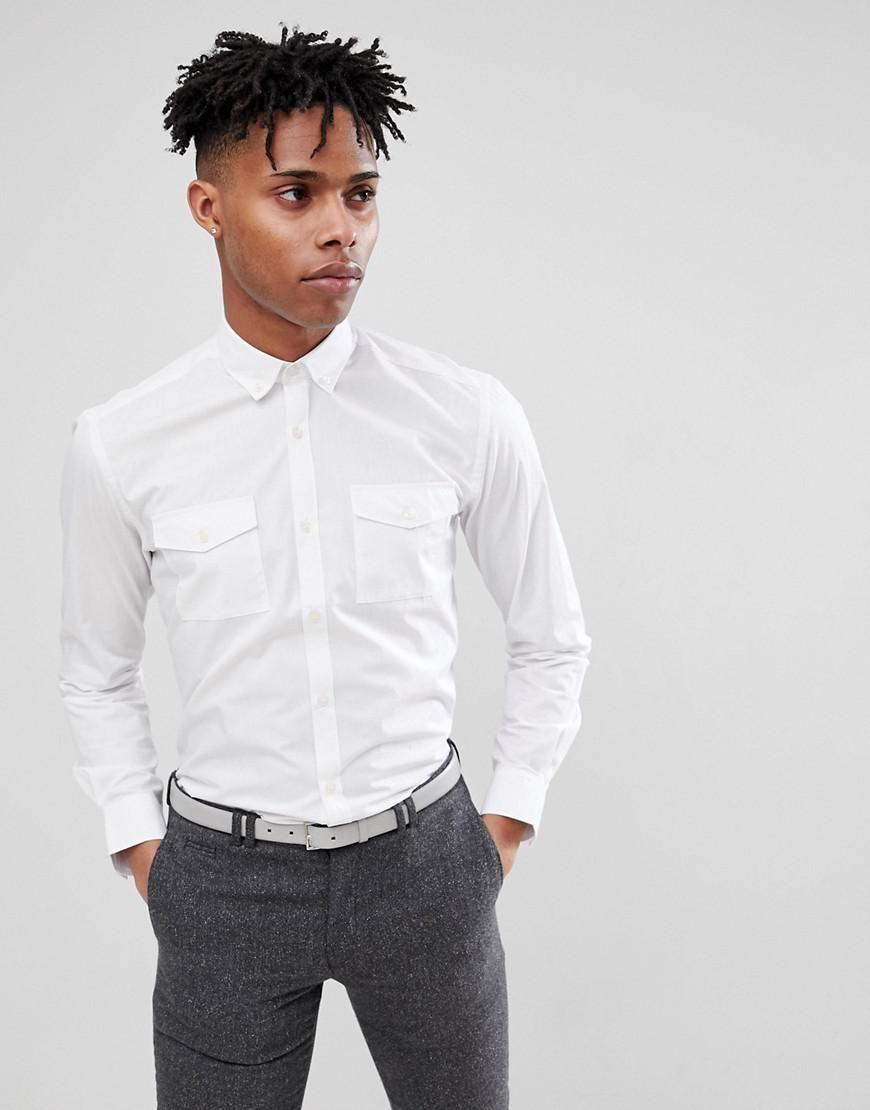 French Connection Military Shirt - White - Sizes S-XL - £12.50 @ ASOS (+£3 P&P)