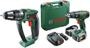 Bosch 18V Li-ion Drill & 18V Brushless Combi Hammer Drill + 2 X 2.0Ah Batteries 1Hr Charger & Case £155 Delivered W/ Code CLUBWLBPFO @ B&Q