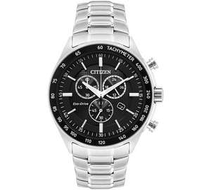 Citizen Men's Eco-Drive Black IP Chronograph Bracelet Watch, £124.99 at Argos