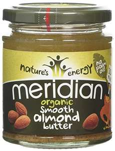 Meridian Organic Smooth Almnond Butter with 100 Percent Nuts, 170 g £3 @Amazon pantry / Prime Exclusive