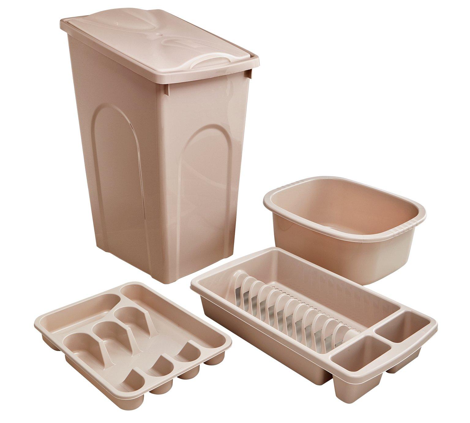 Argos Home 4 Piece 50L Kitchen Bin Set - Natural £10.99 @ Argos