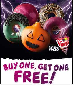 BOGOF Krispy Kreme donut voucher for 17th October
