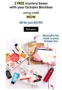 3 Birchboxes for the price of 1 £12.95 with code WOW at checkout