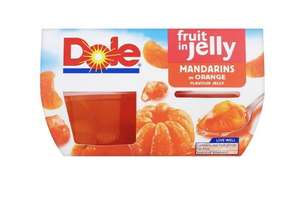 Dole 4 packs: Fruit Salad, Peaches in Jelly, Mandarins in Jelly, Mixed fruit in Jelly & Mandarins in Juice all £1 @ Tesco