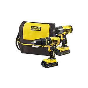 Stanley Twin pack Hammer/Drill/Driver + Impact Driver £80 @ B&Q -  Exeter