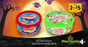 Tubs of 700g Haribo and 630g Swizzels £4 each or 2 for £5 instore @ Morrisons