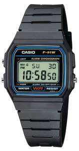 Casio Classic Digital LCD Watch with Stopwatch, Timer, Alarm, Water Resistant, Model F-91W-1YER, £7.99 (Delivered) @ 7DayShop