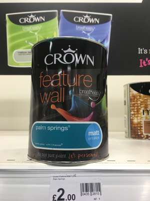 CROWN Feature wall Paint *PRICE ERROR* 1p @ Wilko instore Bolton