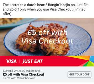 £5 off just eat with visa check out