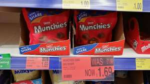 Munchies sharing bag (229g) of chocolates down to £1.69 in B&M