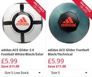 adidas ACE Glider Football Size 5 / 4 £5.99 Plus more Adidas Footballs @ M&M Direct P&P £4.99 or Free with Premier