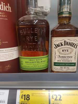 Bulleit rye whiskey 70cl - £18 instore @ Morrisons (Bishop Auckland)