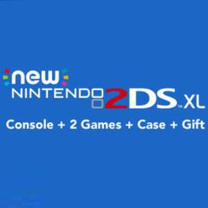 New Nintendo 2DS XL (with pre-installed game) + Nintendo Selects Game + Case + Gift @ Nintendo U.K. Online Store