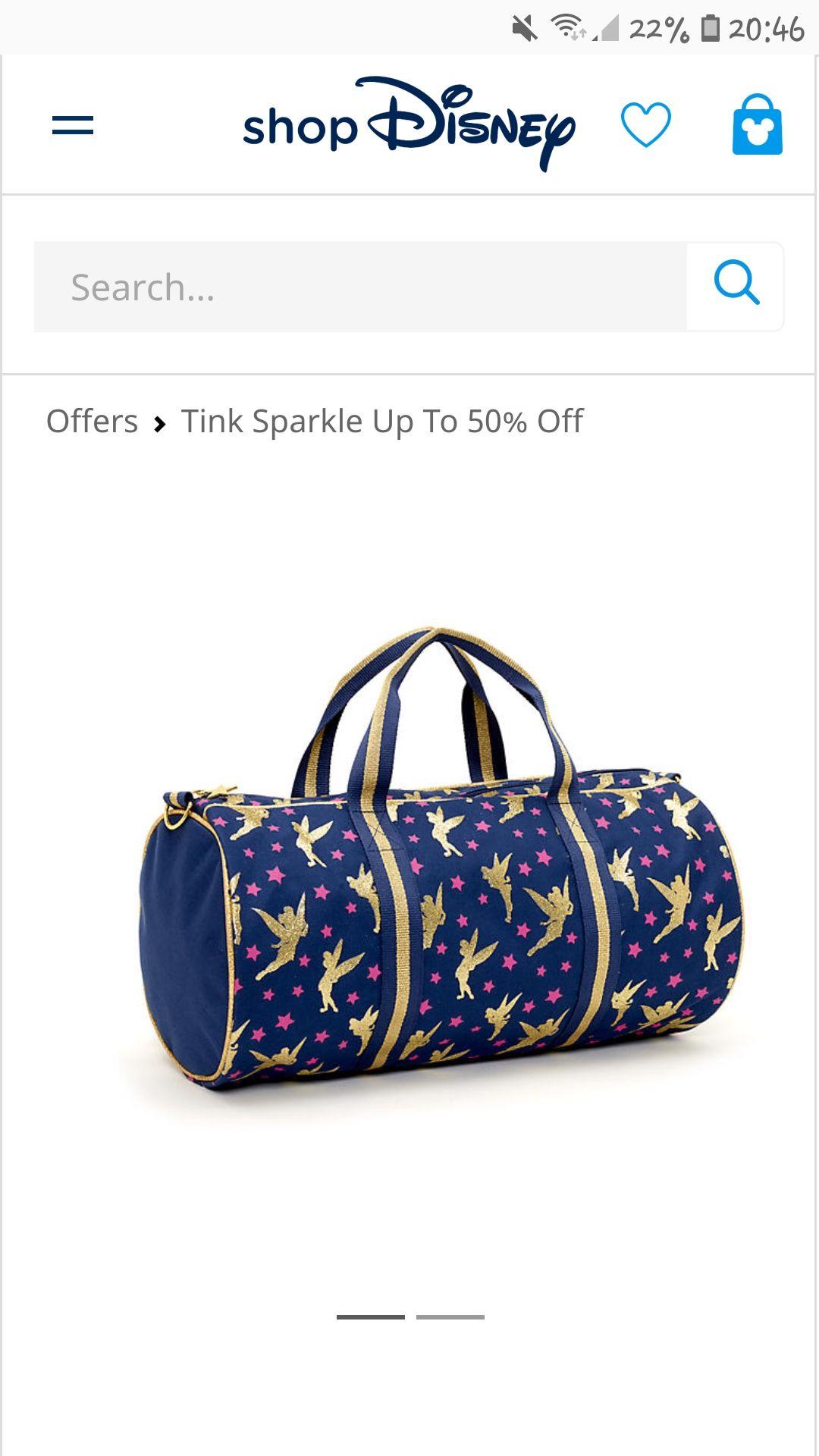 Tinkerbell duffle bag at the disney store £11 (+£3.95 P&P)