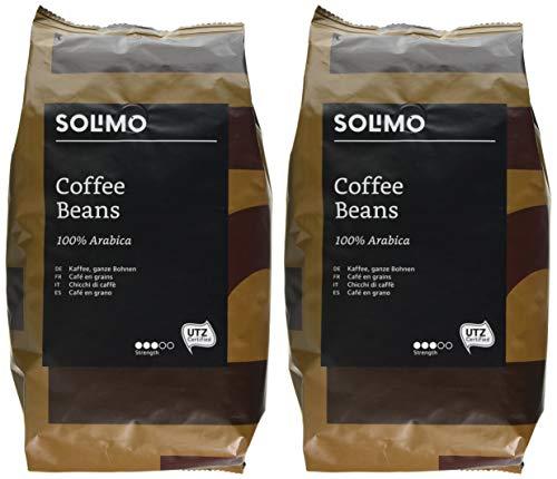 Amazon Brand Solimo Coffee Beans 2 kg (2 x 1kg) £14.74 (Prime) £4.49 delivery Non Prime @ Amazon