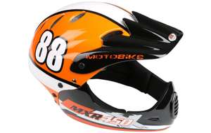 Motobike MXR450 Full Face Adults/Kids Bike Helmet - Orange (54-58cm) £22 Halfords - fee c&c