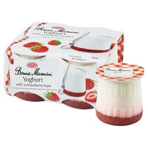 Bonne Maman Yogurt With Strawberry Layer 4x125g 1 50 Tesco