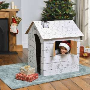 Build & Colour Your Own Christmas Santas Grotto only £9.99 in store or £2 C&C (These are £14.99 at Hobbycraft) @ The Range