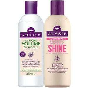 Aussie Conditioner £1 each / Tresemme Expert Selection Tousling Sea Salt Spray £1 + £4.95 Del per order @ Poundshop (extra 5% off w/code)