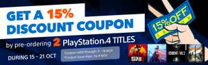 Pre-Order 2 Titles + Get a 15% discount coupon at PlayStation PSN Store Indonesia - Red Dead Redemption 2, Resident Evil 2 and more