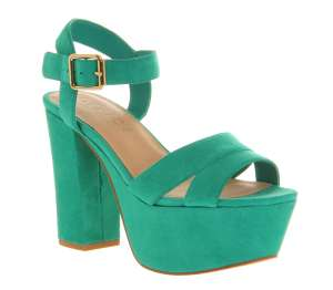 Office Jargon Green Suede size 4 £15 @ Office - Free c&c