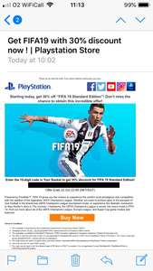 FIFA 19 PS4 £29.76 using 30% discount coupon from PSN Store Indonesia