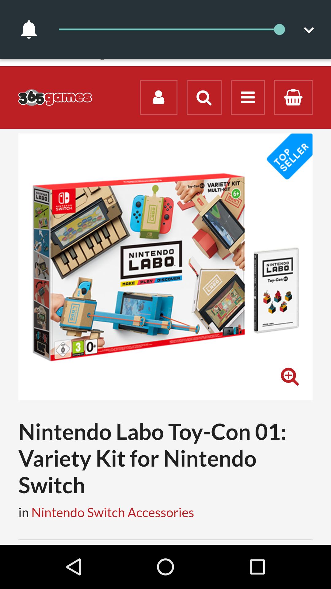 Nintendo Labo Toy Con £48.45 @ 365games