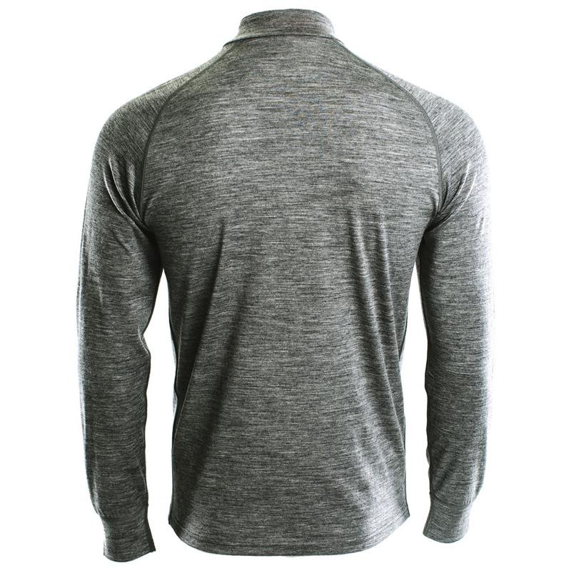 ISOBAA Mens Merino 200 Long Sleeve Zip Neck (Charcoal) £39.99 @ sport pursuit