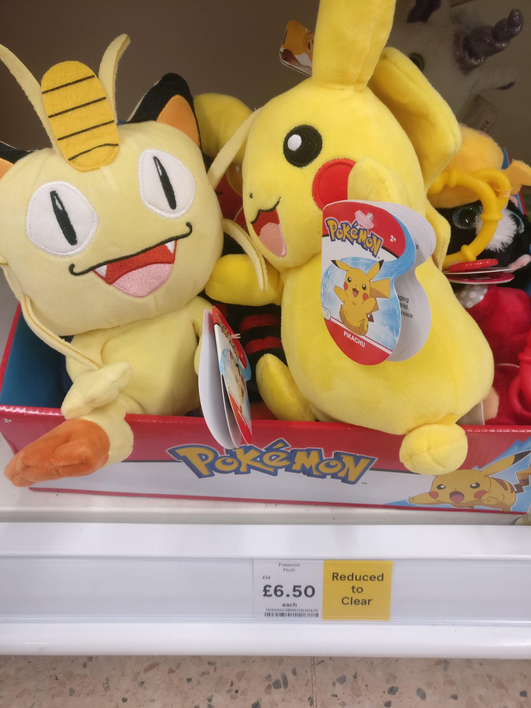 Pokemon plush toy £6.50 @ Tesco instore