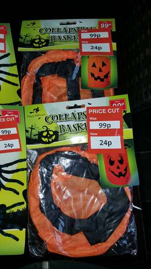 Halloween Collapsible Basket Poundstretcher - 24p (Plus more in OP)