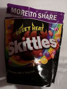 Chilli fan? Or just dislike kids and/or Treat or Treaters? Skittles Sweet Heat chilli flavour big 350g bags on sale for £1.50 in the Co-op