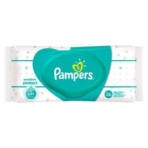 Pampers Sensitive Baby Wipes 56 Pack 70p @ tesco