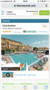 Last minute deal to Marmaris from Birmingham 8 nights  club excelsior £140pp - £281 @ Thomas Cook 22nd October