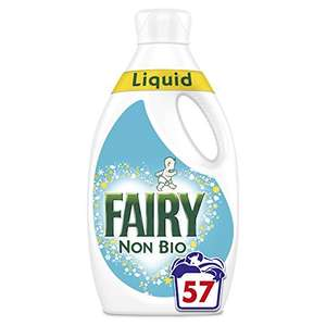 Fairy Non Bio Washing Liquid for Sensitive Skin, 1.995 Litre, 57 Washes, Pack of 3 - £21 @ Amazon (prime.exclusive)