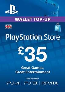 Playstation Network Card UK - £35 (PS Vita/PS3/PS4) £29.96 with FB code @ CD KEYS