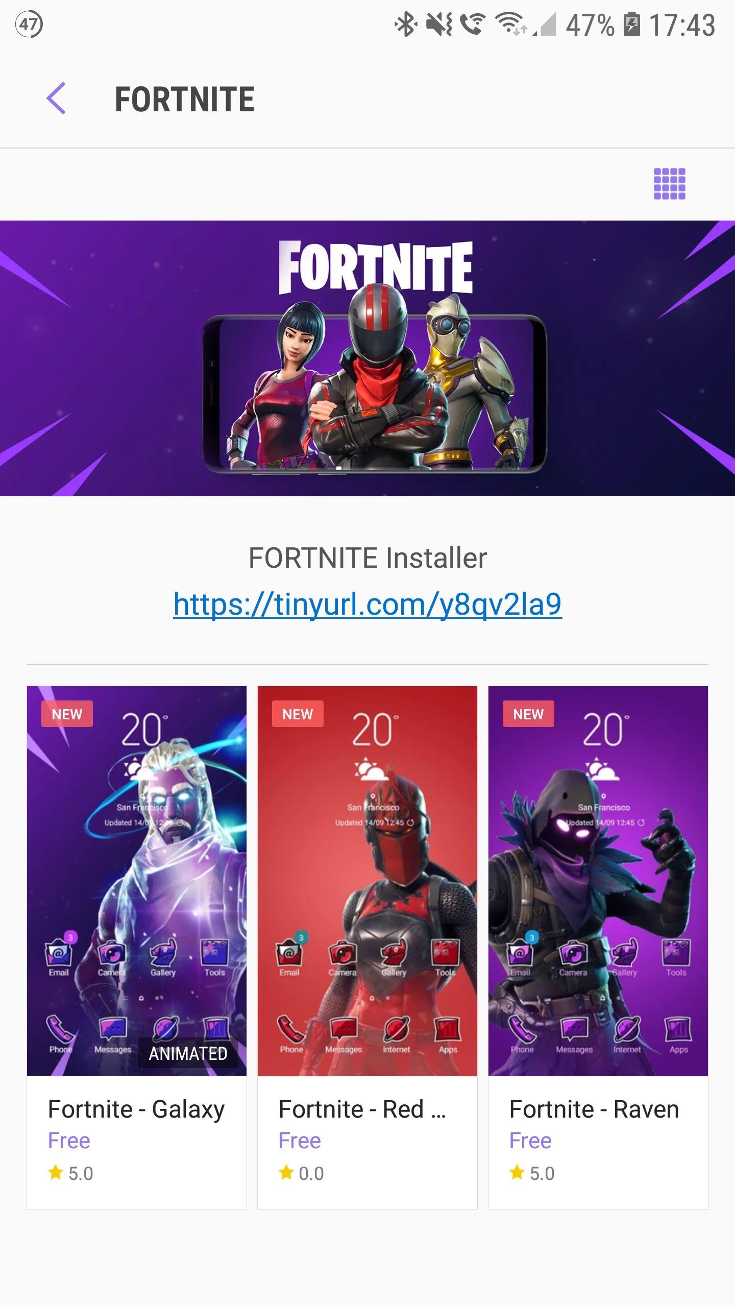 Fortnite Samsung Theme *FREE* - Samsung Themestore