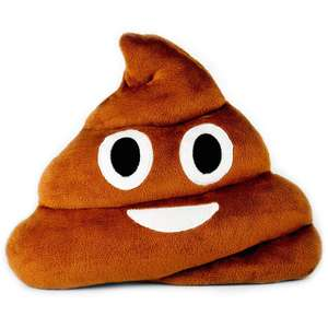Desire Deluxe 32cm Poo Emoticon Round Cushion Pillow £7.23 (Prime) £11.72 (Non Prime) @ Sold by TechStone Shop and FBA