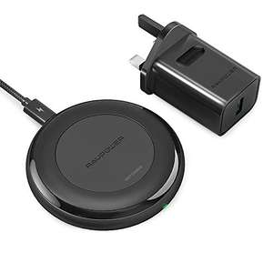RAVPower 10W/7.5W Qi-Certified Wireless Charging Pad (with QC3.0 Adapter) £19.99 Sold by Sunvalleytek-UK and Fulfilled by Amazon