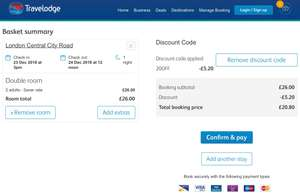 Travelodge London 23rd of December near shoreditch for £20.80 (with code)